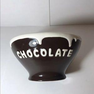 Pottery Barn Chocolate Bowl
